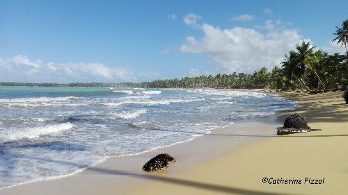 Playa Cosón Las Terrenas Samaná   © Blog Je Suis ce que Je Suis-libre  © Catherine Pizzol