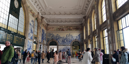 A la découverte de la ville de Porto Gare São Bento de Porto Je suis ce que je suis-libre